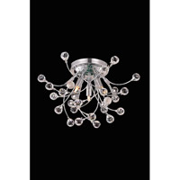 Elegant Lighting Optic 3 Light Flush Mount in Chrome with Royal Cut Clear Crystal 3202F16C/RC