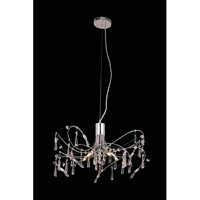 Elegant Lighting Galactic 5 Light Pendant in Chrome with Royal Cut Clear Crystal 3203D22C/RC
