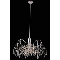 Elegant Lighting Galactic 10 Light Pendant in Chrome with Royal Cut Clear Crystal 3203D30C/RC