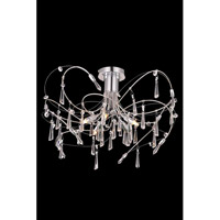 Elegant Lighting Galactic 5 Light Flush Mount in Chrome with Royal Cut Clear Crystal 3203F22C/RC