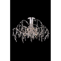 Galactic 10 Light 30 inch Chrome Flush Mount Ceiling Light