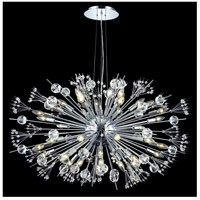Elegant Lighting Cyclone 44 Light Foyer in Chrome with Elegant Cut Clear Crystal 3400G46C/EC