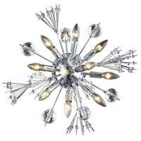 Elegant Lighting Cyclone 10 Light Wall Sconce in Chrome with Elegant Cut Clear Crystal 3400W20C/EC
