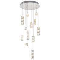 Elegant Lighting 3500D24C Polaris LED 24 inch Chrome Chandelier Ceiling Light