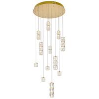 Elegant Lighting 3500D24G Polaris LED 24 inch Gold Chandelier Ceiling Light