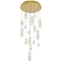 Elegant Lighting 3500D28G Polaris LED 28 inch Gold Chandelier Ceiling Light