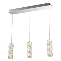 Elegant Lighting 3500D3C Polaris LED 5 inch Chrome Pendant Ceiling Light Urban Classic