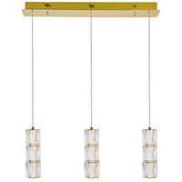 Elegant Lighting 3500D3G Polaris LED 5 inch Gold Pendant Ceiling Light