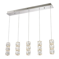 Elegant Lighting 3500D5C Polaris LED 5 inch Chrome Pendant Ceiling Light, Urban Classic