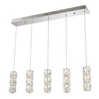 Elegant Lighting 3500D5C Polaris LED 5 inch Chrome Pendant Ceiling Light Urban Classic