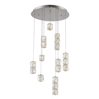 Polaris LED 20 inch Chrome Pendant Ceiling Light, Urban Classic