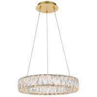 Elegant Lighting 3503D17G Monroe 18 inch Gold Pendant Ceiling Light
