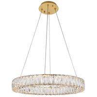 Elegant Lighting 3503D23G Monroe 24 inch Gold Chandelier Ceiling Light