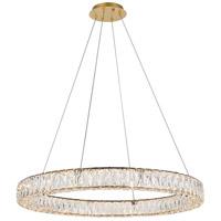 Elegant Lighting 3503D31G Monroe 32 inch Gold Chandelier Ceiling Light