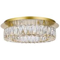 Elegant Lighting 3503F18G Monroe 18 inch Gold Flush Mount Ceiling Light