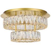 Elegant Lighting 3503F18L2G Monroe 18 inch Gold Flush Mount Ceiling Light