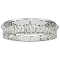Elegant Lighting 3503F26C Monroe LED 26 inch Chrome Flush Mount Ceiling Light