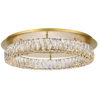 Elegant Lighting 3503F26G Monroe 26 inch Gold Flush Mount Ceiling Light