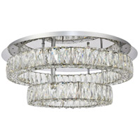Monroe LED 26 inch Chrome Flush Mount Ceiling Light