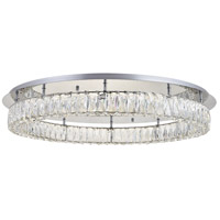 Elegant Lighting Chrome Crystal Flush Mounts
