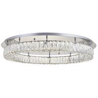 Elegant Lighting 3503F33C Monroe LED 34 inch Chrome Flush Mount Ceiling Light