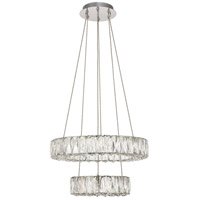 Monroe LED 18 inch Chrome Pendant Ceiling Light