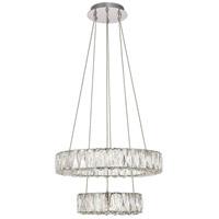 Elegant Lighting 3503G18C Monroe LED 18 inch Chrome Pendant Ceiling Light