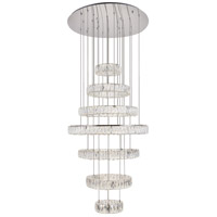Elegant Lighting 3503G34C Monroe LED 34 inch Chrome Chandelier Ceiling Light