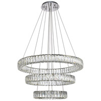 Monroe LED 32 inch Chrome Chandelier Ceiling Light