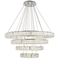 Elegant Lighting 3503G41C Monroe LED 42 inch Chrome Chandelier Ceiling Light