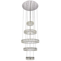 Monroe LED 26 inch Chrome Chandelier Ceiling Light