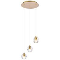 Elegant Lighting 3505D12G Eren 3 Light 12 inch Gold Pendant Ceiling Light