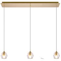 Elegant Lighting 3505D28G Eren 3 Light 28 inch Gold Linear Pendant Ceiling Light
