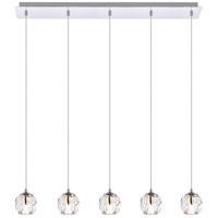 Elegant Lighting 3505D32C Eren 5 Light 32 inch Chrome Linear Pendant Ceiling Light