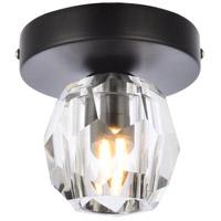 Elegant Lighting 3505F5BK Eren 1 Light 5 inch Black Flush Mount Ceiling Light