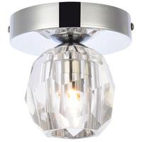 Elegant Lighting 3505F5C Eren 1 Light 5 inch Chrome Flush Mount Ceiling Light