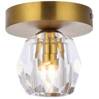 Elegant Lighting 3505F5G Eren 1 Light 5 inch Gold Flush Mount Ceiling Light