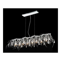Elegant Lighting 3600D48C/RC Harmony 8 Light 48 inch Crystal Island Pendant Ceiling Light