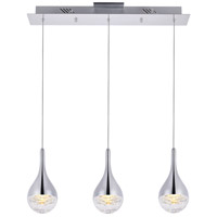 Elegant Lighting 3803D24C Amherst LED 4 inch Chrome Chandelier Ceiling Light