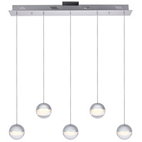 Elegant Lighting 3905D33C Diego LED 4 inch Chrome Chandelier Ceiling Light