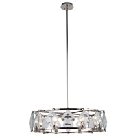 Endicott 8 Light 31 inch Polished Nickel Chandelier Ceiling Light, Urban Classic
