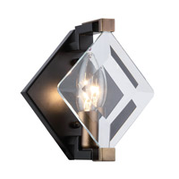 Endicott 1 Light 6 inch Flat Black Wall Sconce Wall Light, Urban Classic