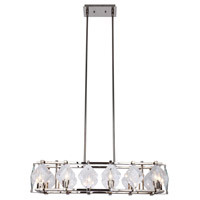 Elegant Lighting 4001D35PN Endicott 8 Light 11 inch Polished Nickel Chandelier Ceiling Light, Urban Classic