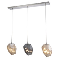 Gibeon 3 Light 5 inch Polished Nickel Chandelier Ceiling Light, Urban Classic
