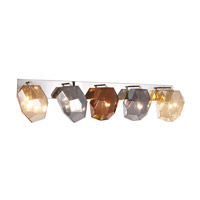 Elegant Lighting 4002W42PN Gibeon 5 Light 42 inch Polished Nickel Wall Sconce Wall Light, Urban Classic