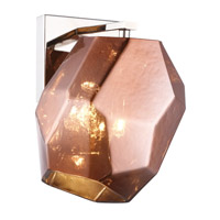 Elegant Lighting 4002W5PNCP Gibeon 1 Light 6 inch Polished Nickel Wall Sconce Wall Light in Copper Urban Classic