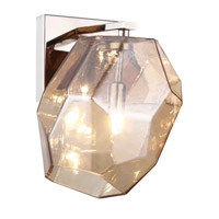 Elegant Lighting 4002W5PNGT Gibeon 1 Light 6 inch Polished Nickel Wall Sconce Wall Light in Golden Teak, Urban Classic
