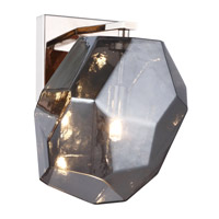 Elegant Lighting 4002W5PNSS Gibeon 1 Light 6 inch Polished Nickel Wall Sconce Wall Light in Silver Urban Classic