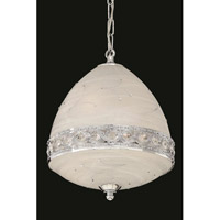 Elegant Lighting Italia 4 Light Pendant in Chrome with Swarovski Elements Clear Crystal 4720D12C/SS