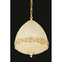 Elegant Lighting Italia 4 Light Pendant in Gold with Swarovski Elements Clear Crystal 4720D12G/SS